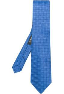 Etro Gravata Jacquard De Seda - Azul