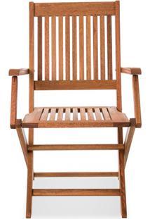 Cadeira Dobrável Em Madeira Com Braço Arpoador Jatobá