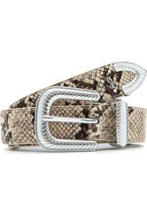 Cinto Santa Lolla Snake Bege/Marrom