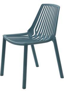 Cadeira Morgana Polipropileno Cor Verde Petroleo - 29782 Sun House