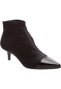 Ankle Boot Com Recortes- Pretaschutz
