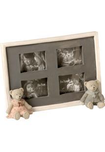 Porta-Retrato De Resina Decorativo Com Urso Love Bears