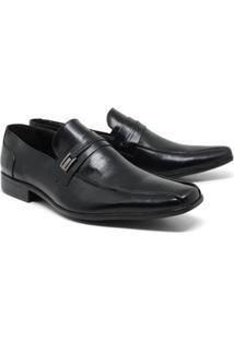 Sapato Social Lsb Shoes Bico Quadrado Masculino - Masculino-Preto