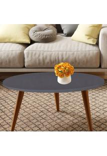 Mesa Oval Retrô – Be Mobiliário - Espresso