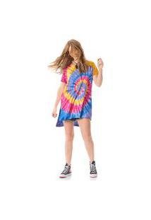 Camiseta Yacamim Com Mangas Curtas Multicolorido