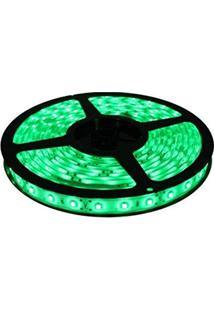 Fita De Led Verde Com Silicone 300 Leds Smd 5050 12V Rolo De 5 Metros