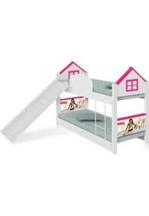 Beliche Infantil Casa Menina Moça Com Escorregador E Colchões Casah