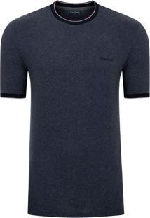 Camiseta Moline Com Retilíneas Marinho