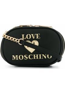 Love Moschino Bolsa Transversal Com Logo - Preto