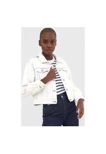 Jaqueta Jeans Gap Cropped Oversize Azul