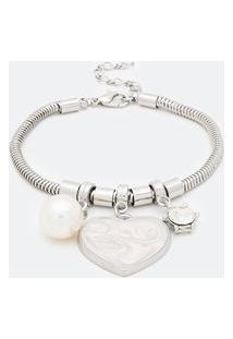Pulseira Com Pingente Coração Em Resina | Accessories | Prata | U