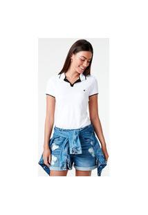 Blusa Polo Piquê Premium Malwee Branco - Xgg Malwee