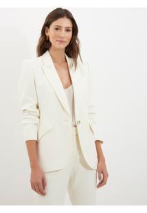 Blazer Le Lis Blanc Vitoria Off White Feminino (Off White, 46)