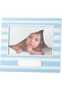 Porta-Retrato Azul 10X15 Listras 3074 Lyor Classic