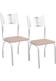 Kit 2 Cadeiras Munique C047 - Kappesberg - Linho Marrom