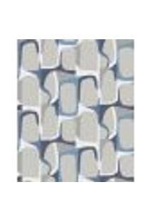 Papel De Parede Adesivo Decoração 53X10Cm Azul -W22568