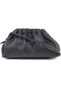 Bolsa Couro Shoestock Slouchy Bag Feminina - Feminino-Preto
