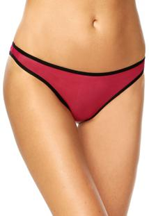 Calcinha Calvin Klein Underwear Tanga Debrum Rosa