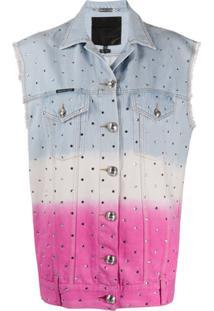 Philipp Plein Colete Jeans - Rosa