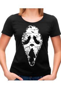 Camiseta Feminina Reaper Scream Geek10 - Preto