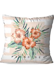 Capa De Almofada Avulsa Decorativa Floral Paradise 35X35