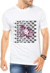 Camiseta Criativa Urbana Bulldog Urbano - Masculino-Branco