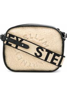 Stella Mccartney Logo Detail Crossbody Bag - Neutro
