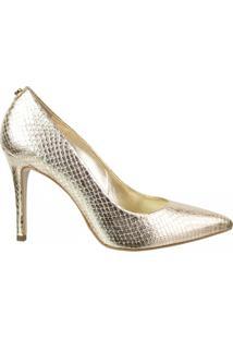 Sapato Scarpin Araia Shine Jorge Bischoff - Feminino-Dourado