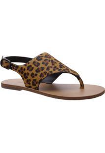 Sandália Forma Geométrica Mini Onça | Anacapri