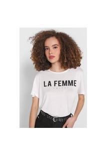 Camiseta Colcci La Femme Branca