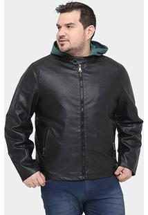 Jaqueta Broken Rules Lisa Plus Size - Masculino-Preto