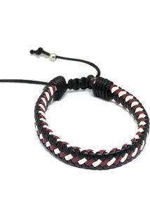 Pulseira Kuff Acessorios Cruz Cobra Vermelha