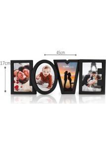 Porta Retrato Quádruplo Love – Clink – 04 Fotos – Plástico