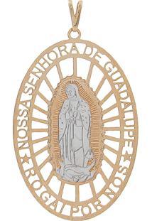 Pingente Narcizza Semijoias Vazado Nossa Senhora De Guadalupe - Ouro Rose