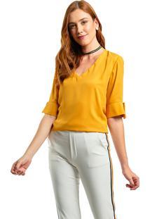 Blusa Mx Fashion Frente Dupla Dakota Mostarda