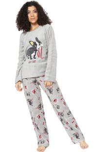 Pijama Any Any Dog Cinza