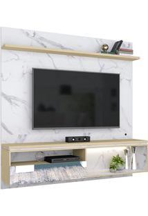 Painel Bancada Suspensa Para Tv Até 60 Pol. Com Espelho Enseada C05 Ca