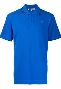 Mcq Alexander Mcqueen Camisa Polo Com Logo Bordado - Azul
