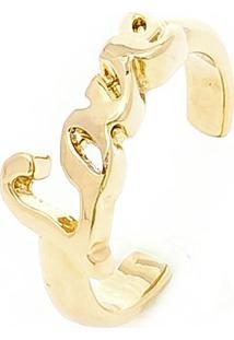 Anel Banho De Ouro De Falange Modelo Love - Feminino-Dourado