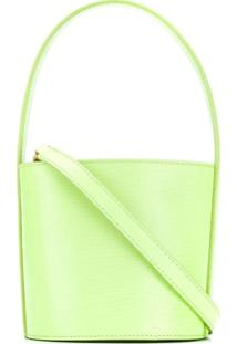 Staud Mini Bissett Lizard-Embossed Leather Bucket Bag - Verde