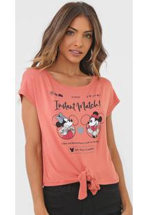 Blusa Cativa Disney Mickey And Minnie Laranja