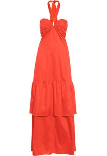 Vestido Longo Argola - Vermelho