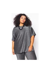 Camiseta Almaria Plus Size Alt Glow Preto