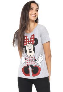 Blusa Cativa Disney Minnie Glitter Cinza