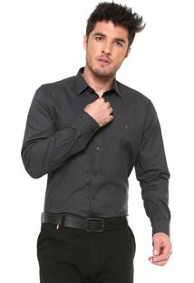 Camisa Aramis Slim Brush Strech Preta