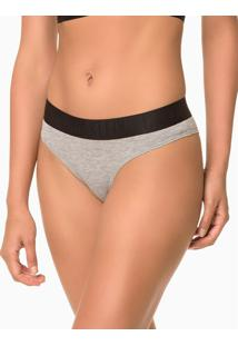 Calcinha Tanga Black Cotton - Mescla - S