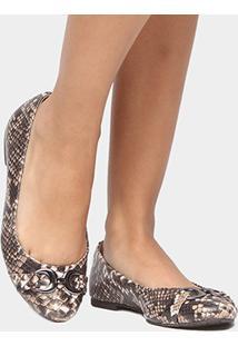 Sapatilha Shoestock Snake Bridão - Feminino-Marrom
