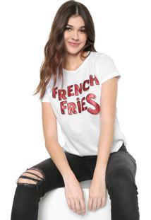 Blusa Fiveblu French Fries Branca