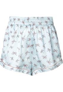 Morgan Lane Short De Pijama Chloe Estampado - Azul