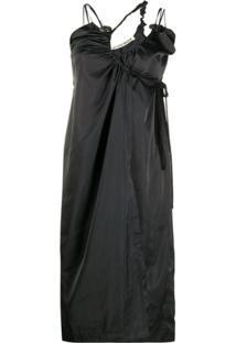 Ottolinger Asymmetric Cut-Out Detail Dress - Preto